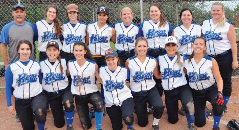 The Martensville Prairie Heat ladies' softball team