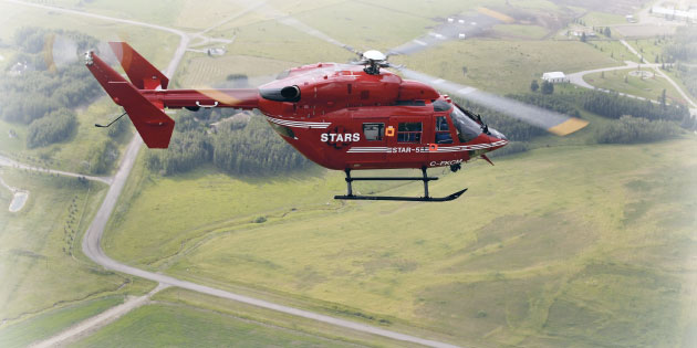 The STARS Air Ambulance in flight.
