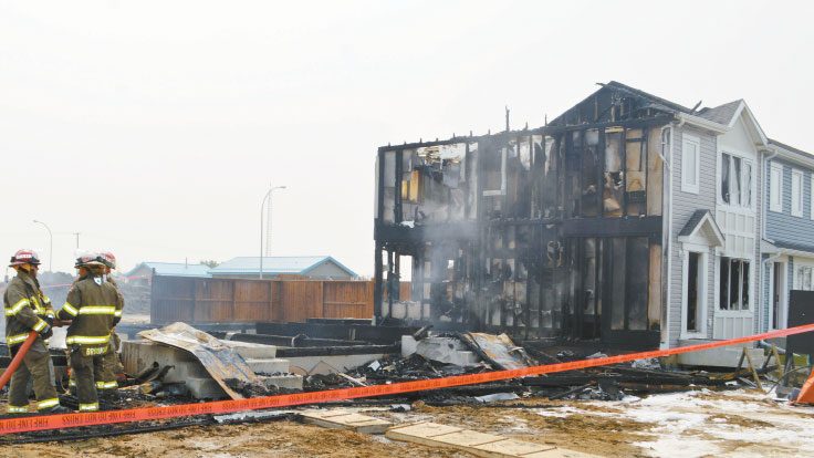 fire destroyed condo unit