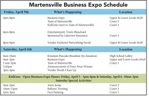 Business Expo Schedule
